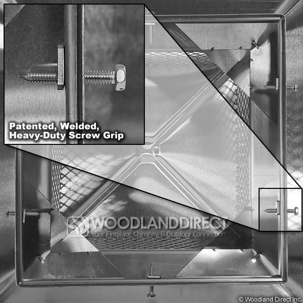 "Gelco Stainless Steel 5/8"" Mesh Chimney Cap image number 2"