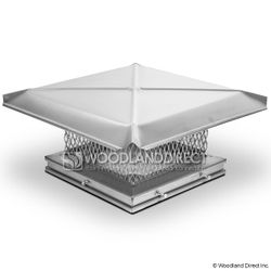 "Gelco Stainless Steel 5/8"" Mesh Chimney Cap"