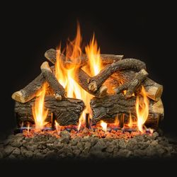 Grand Canyon AZ Weathered Oak Charred Vented Gas Log Set