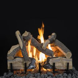 Grand Canyon HOT Blue Pine Split Charred Gas Log Set