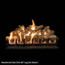 Grand Canyon Jumbo Weathered Oak Slim Vented Gas Log Set