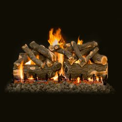 Grand Canyon Jumbo Weathered Oak Slimline Outdoor Gas Logs