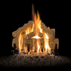 Grand Canyon Western Oak Outdoor Gas Log Set