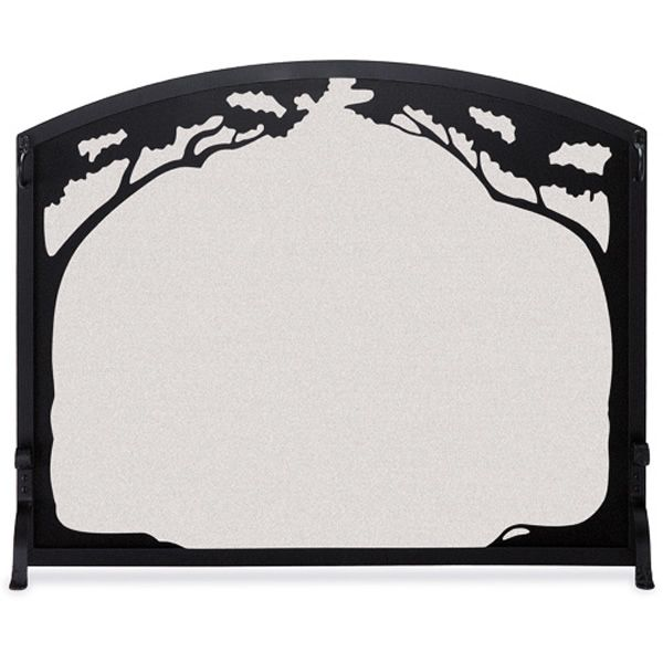 Grand Oak Single Panel Fireplace Screen image number 0