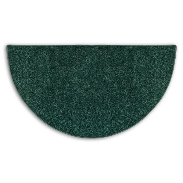 Green Flame Half Round  Polyester Fireplace Hearth Rug - 4' image number 0