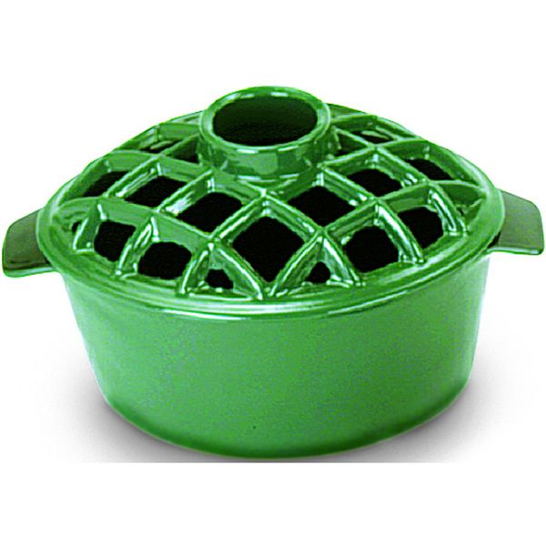 Lattice Top Wood Stove Steamer - Green image number 0