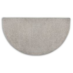 Grey Flame 4' Half Round Polyester Fireplace Hearth Rug