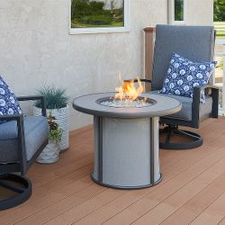 Grey Stonefire Gas Fire Pit Table