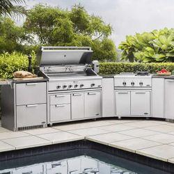 DCS Stainless Steel Outdoor Kitchen Island