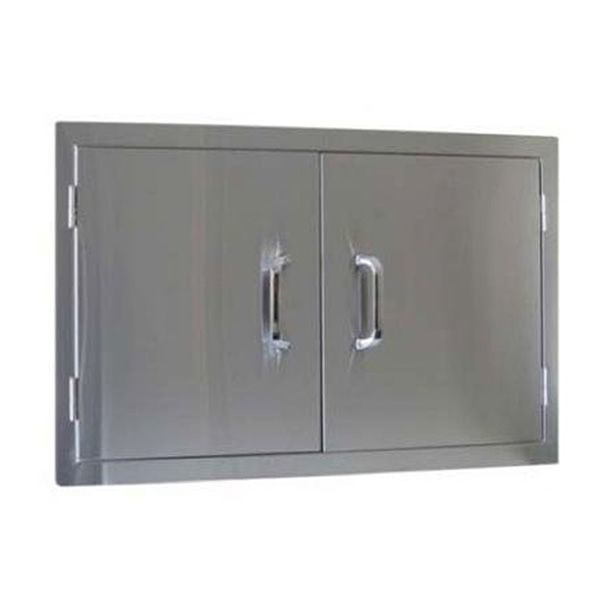 """Double Stainless Steel Door - 33"""" x 22"""" image number 0"""