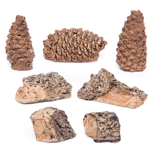 Decor Pack - Wood Chips, Pine Cones image number 0