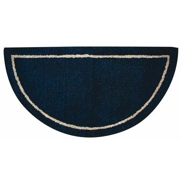 Deep Blue Hand Tufted Hearth Rug image number 0