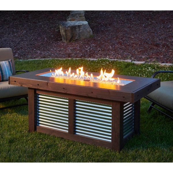 Denali Brew Linear Gas Fire Pit Table image number 0