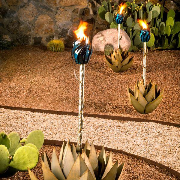 Desert Steel Blue Agave Torch - Large image number 1