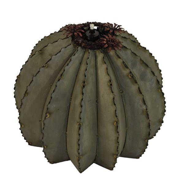 Desert Steel Golden Barrel Cactus Torch - Large image number 1