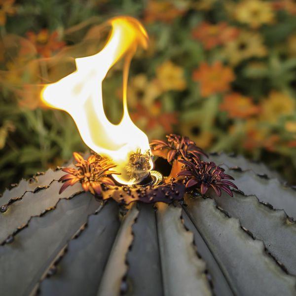 Desert Steel Golden Barrel Cactus Torch - Small image number 2