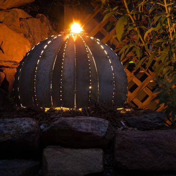Desert Steel Golden Barrel Cactus Torch - Small image number 3