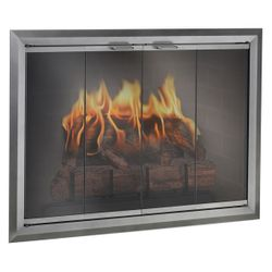 Apex Masonry Fireplace Glass Door