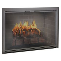 Brookfield Masonry Fireplace Glass Door
