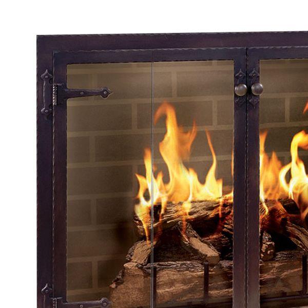 Hammered Edge Masonry Fireplace Door image number 1