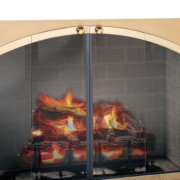 Legend Arch Rectangular Masonry Fireplace Door image number 2