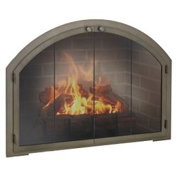 Legend Arch Masonry Fireplace Glass Door