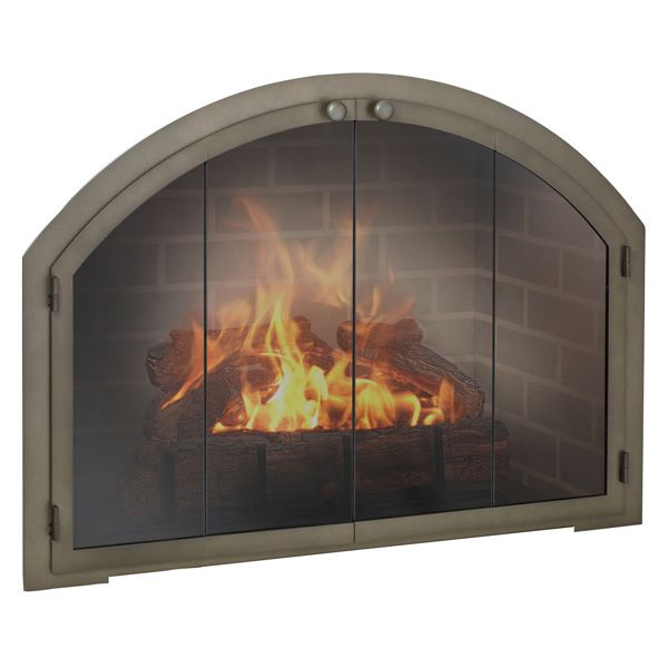 Legend Arch Masonry Fireplace Glass Door image number 0
