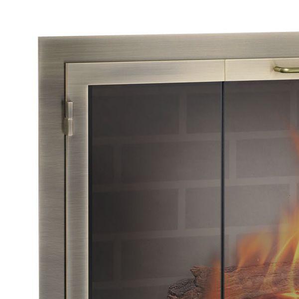 Legend Rectangular Masonry Fireplace Door image number 1