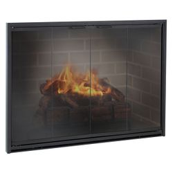 Stiletto Masonry Fireplace Glass Door