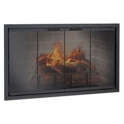 Stiletto Zero Clearance Fireplace Glass Door