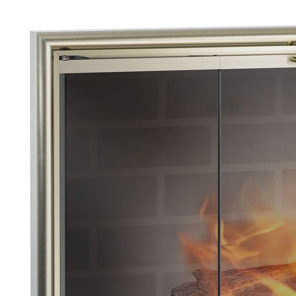 Stiletto ZC Corner Fireplace Door image number 1