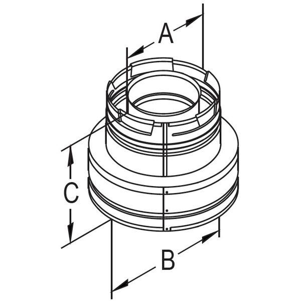 "4"" Diameter DirectVent Chimney Conversion Kit - 6 7/8"" image number 2"