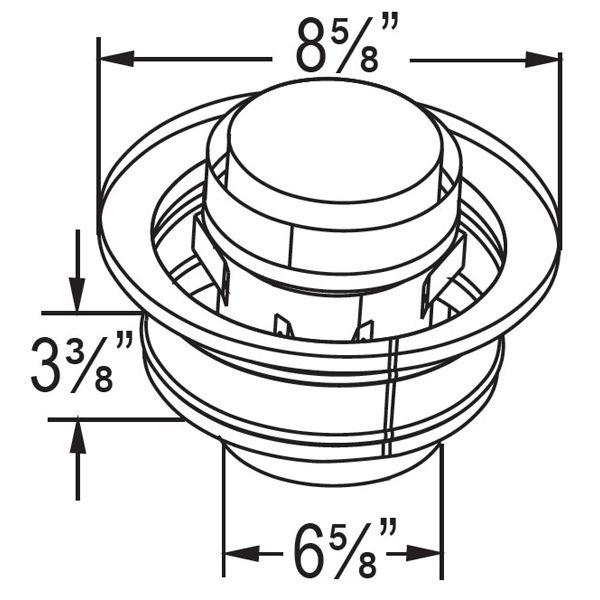 "4"" Diameter DirectVent Chimney Conversion Kit - 6 7/8"" image number 4"