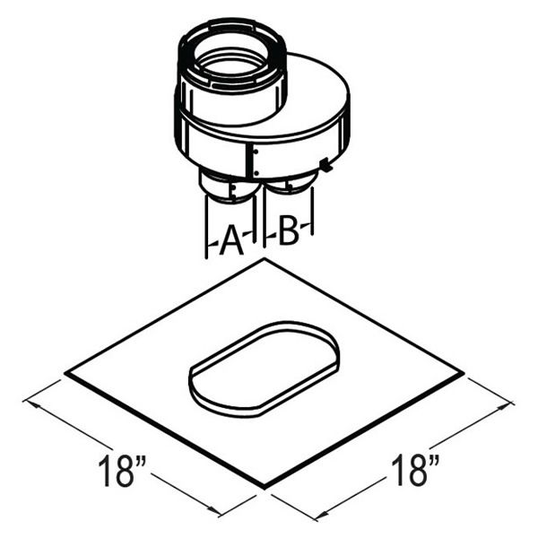 "3"" Diameter DirectVent Chimney Liner Termination Kit image number 1"