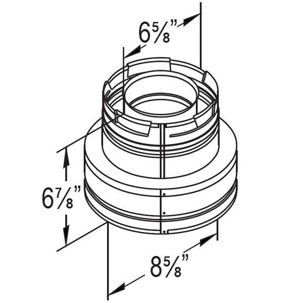 "4"" Diameter DirectVent Masonry Chimney Conversion Kit image number 4"