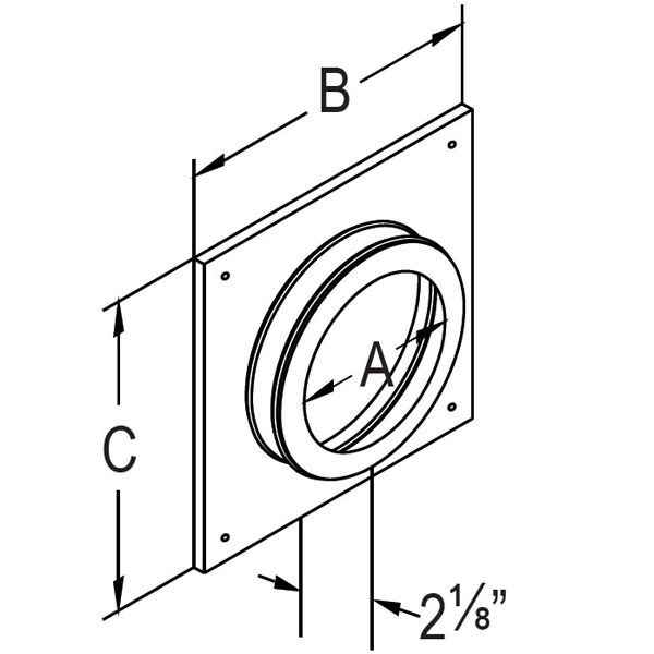 "4"" Diameter DirectVent Masonry Chimney Conversion Kit w/ Thimble &Connector image number 6"