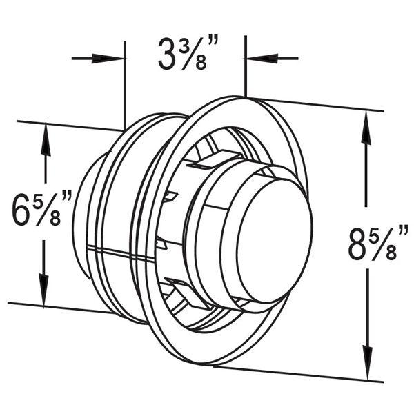 "4"" Diameter DirectVent Masonry Chimney Conversion Kit w/ Thimble &Connector image number 8"