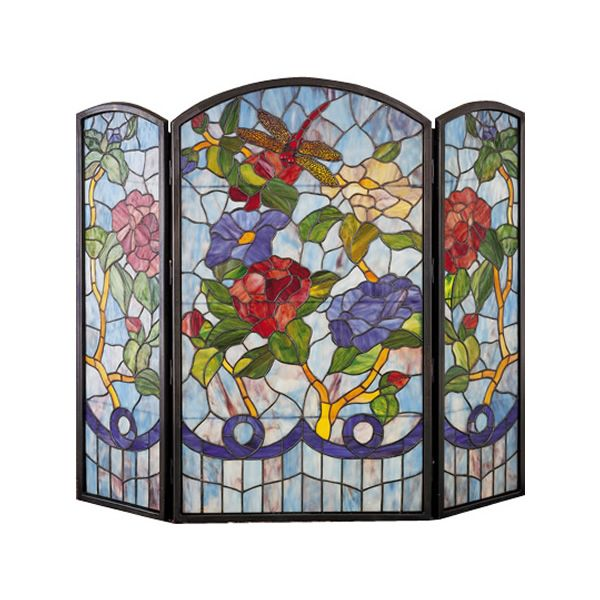 Meyda Tiffany Dragonfly/Flower Fireplace Screen image number 0