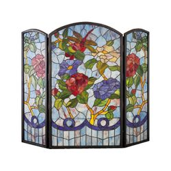 Dragonfly/Flower Fireplace Screen