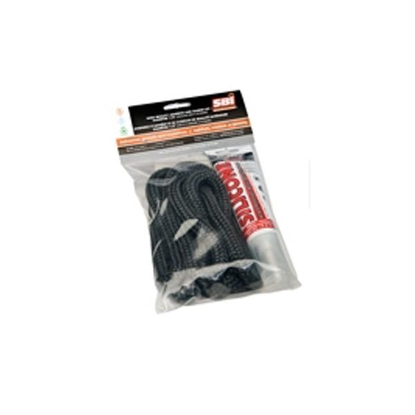 "Drolet Black Door Gasket and Adhesive Replacement Kit - 5/8"" image number 0"