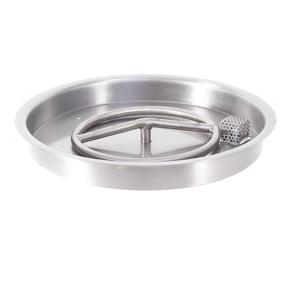 Round Stainless Steel Burner with Round Drop-In Pan image number 0