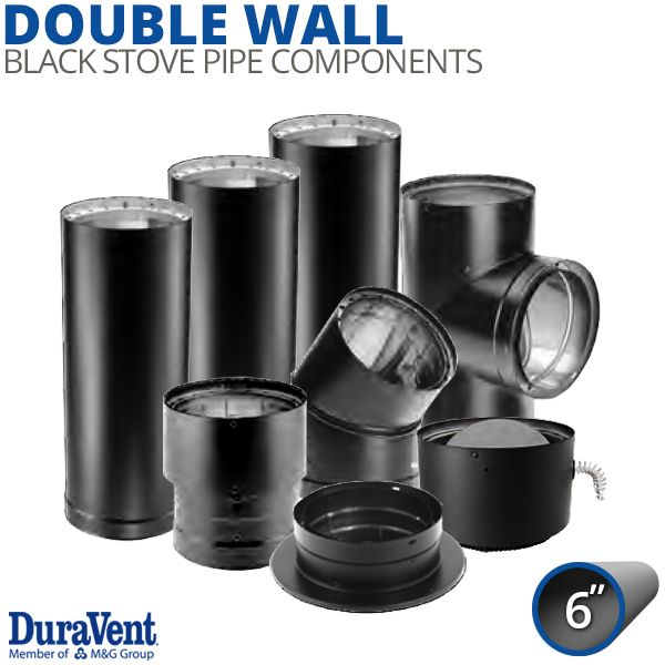 """6"""" Diameter DuraVent DVL Double-Wall Stove Pipe Components image number 0"""