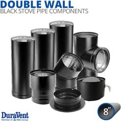"""8"""" Diameter DuraVent DVL Double-Wall Stove Pipe Components"""