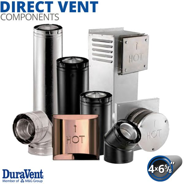 "4"" x 6 5/8"" Diameter DuraVent DirectVent Pro Components image number 0"