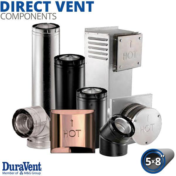 "5"" x 8"" Diameter DuraVent DirectVent Pro Components image number 0"