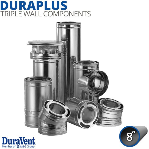 """8"""" DuraVent DuraPlus Stainless Steel Chimney Components image number 0"""