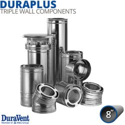 "8"" DuraVent DuraPlus Galvanized Steel Chimney Components"