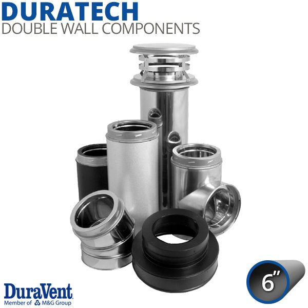 """6"""" DuraVent DuraTech Stainless Steel Chimney Components image number 0"""