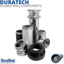 "8"" DuraVent DuraTech Stainless Steel Chimney Components"