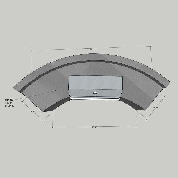 EOK Modular Curved Outdoor Kitchen with  Back Splash image number 4